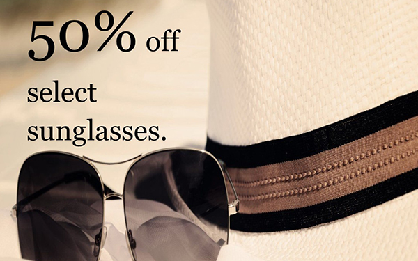 September Special – 50% Off Select Sunglasses